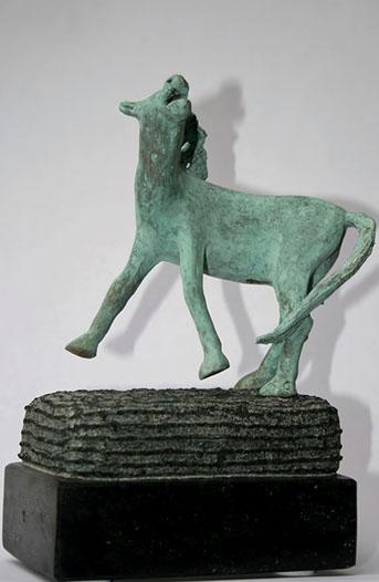 """""""Dansend Paard – 3"""" Brons, Diabas, Unicum"""