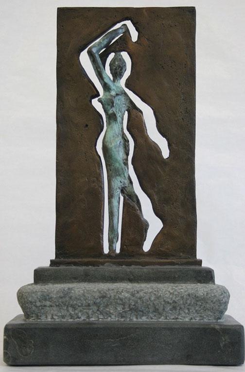 """""""Doorgang – 2"""" Brons, Dolomiet, Unicum, Particulier Collectie"""