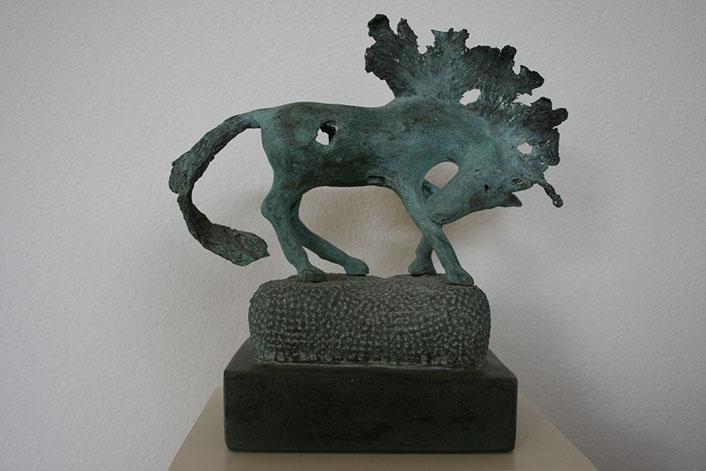 """Droompaard – 1"" Brons, Dolomiet, Unicum – Particuliere Collectie"