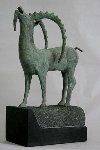 """""""Steenbok – 5"""" Brons, Dolomiet, Unicum"""